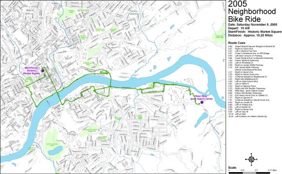 Waterfront Tour Route Map