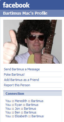 Bartimus is connected to a number of my friends